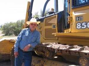 Andy at a job near Coleman,TX  - July 2008